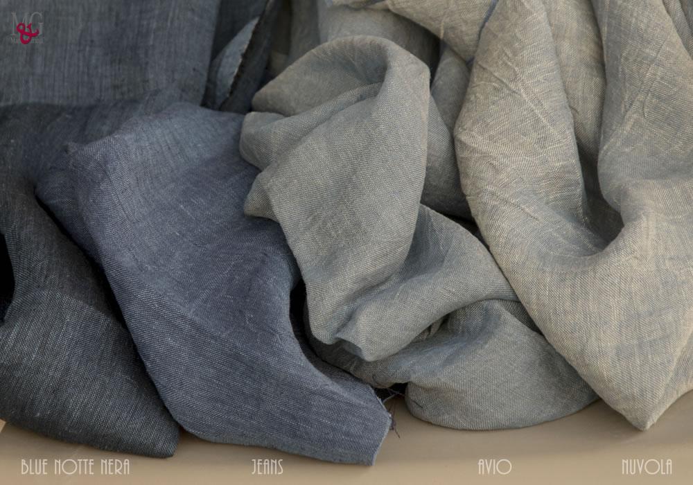 Tende In Tessuto Pesante : I colori del puro lino italiano tessuto per tende in puro lino