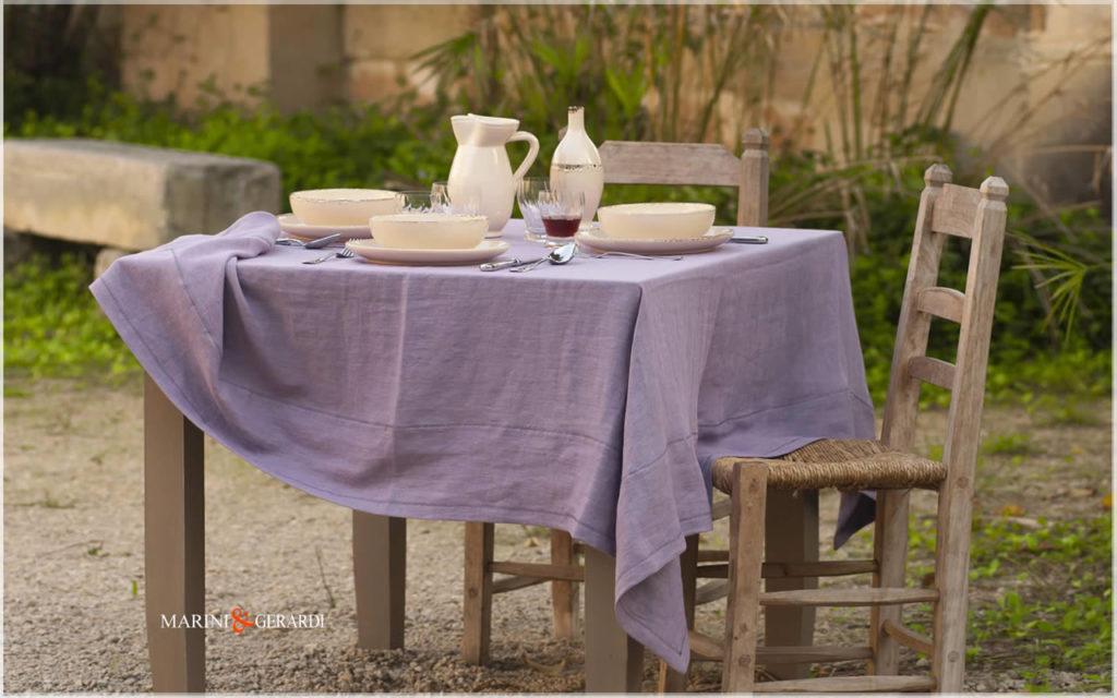 Linen Tablecloth Wisteria Color Barcellona