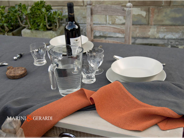 Tablecloths Orange Grey Dublino
