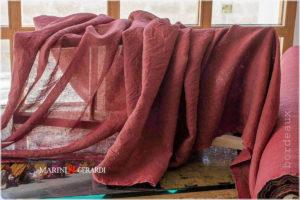 pure linen fabrics bordeaux