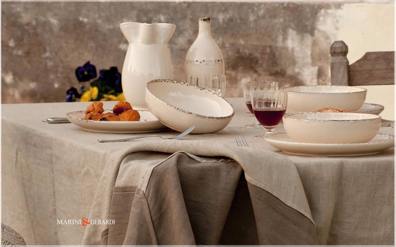 wedding linens tablecloth coffee milk tobacco color Perugia