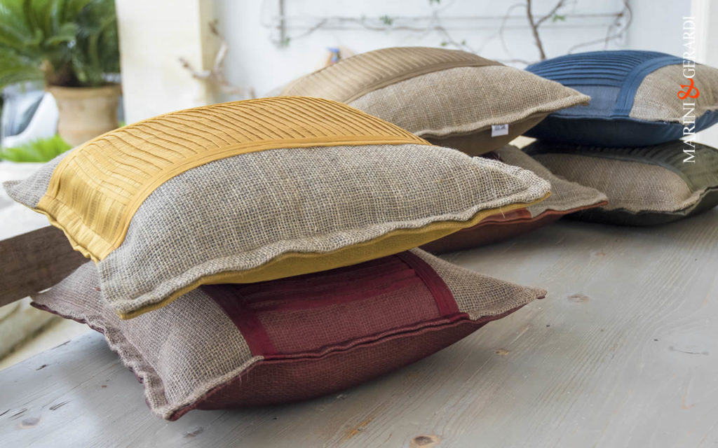 "Organza & Juta Cushions Cover ""Linguine"""