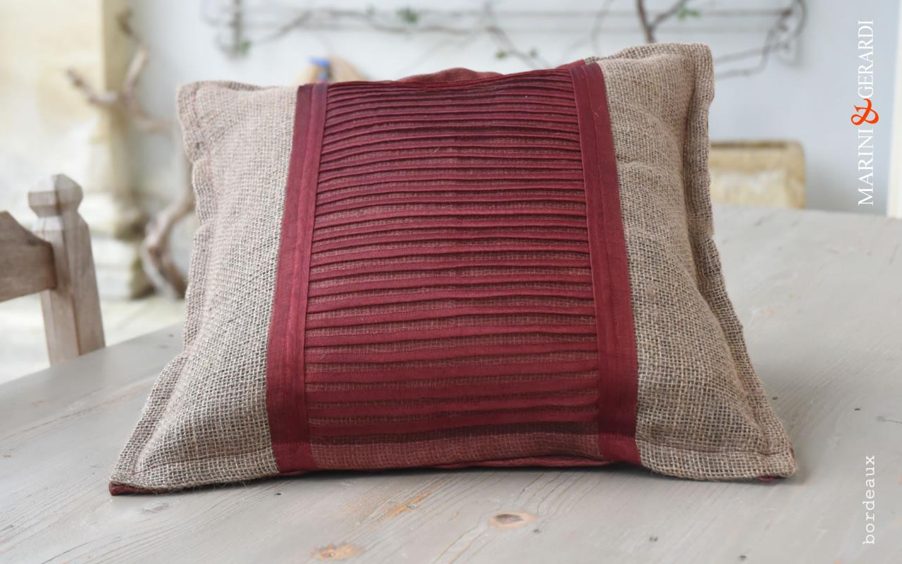 Big Cushions Covers Linguine Bordeaux Yute Organdie