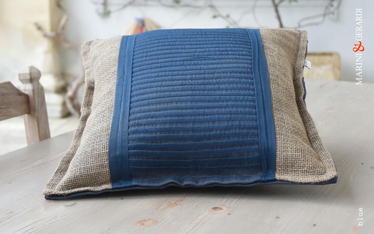 Comfort Cushions Covers Linguine Blue Yute Organdie