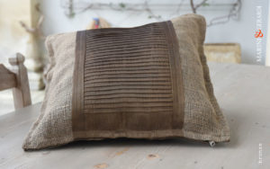 Comfort Cushions Covers Linguine Bronze Yute Organdie