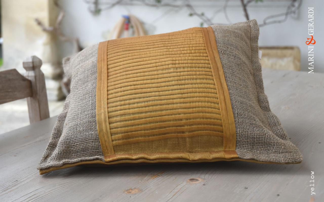 Comfort Cushions Covers Linguine Yellow Yute Organdie