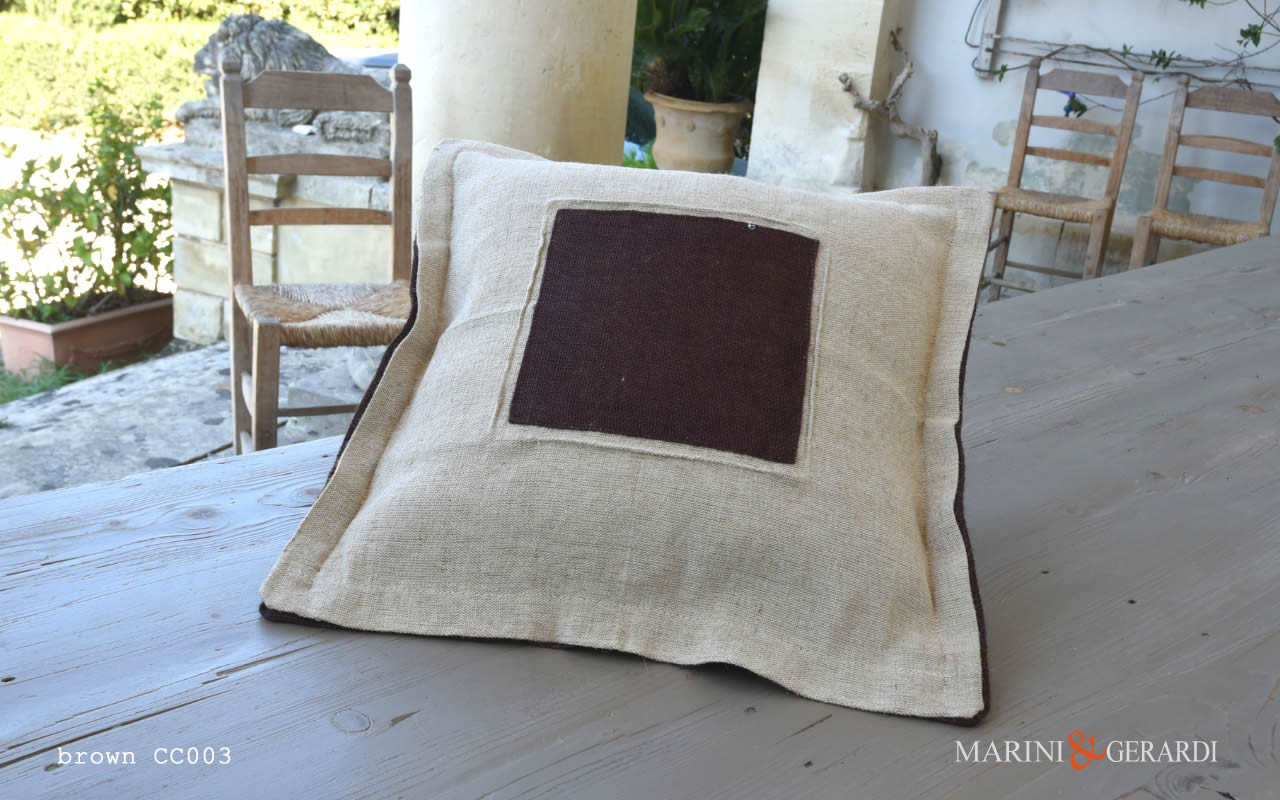 Cushions Covers Boutique Yute Bedroom Brown CC003