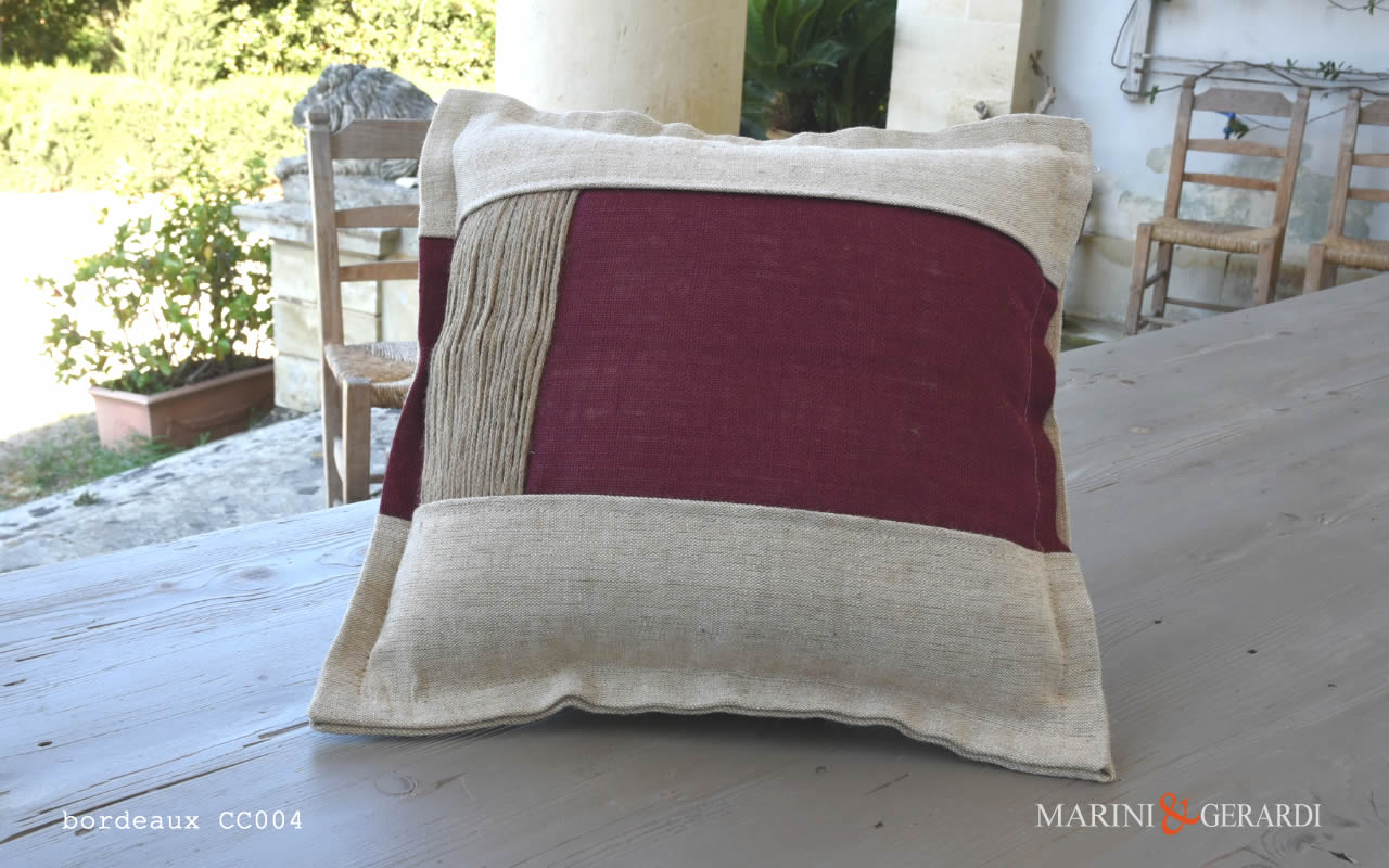 Cushions Covers Boutique Yute Living Room Bordeaux CC004