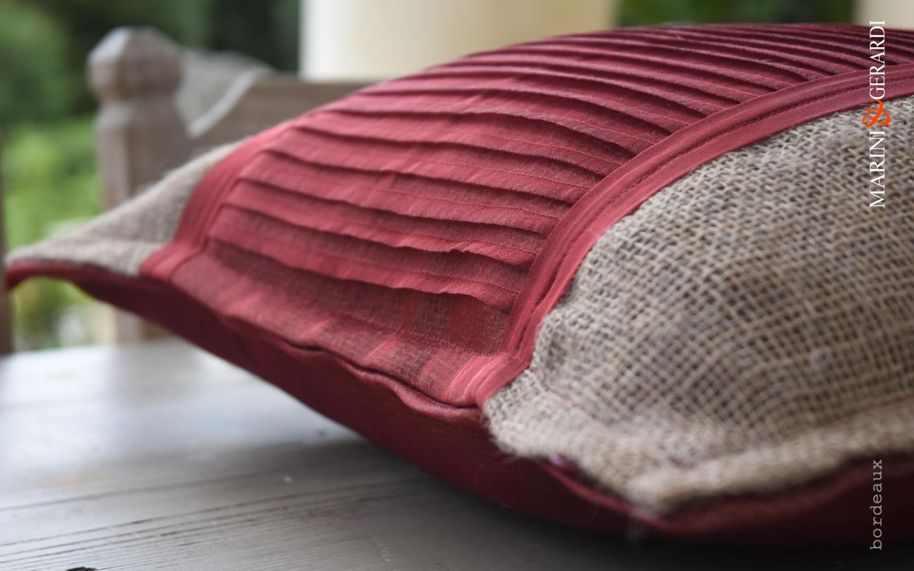 Cushions Covers Linguine Bordeaux Yute Organdie