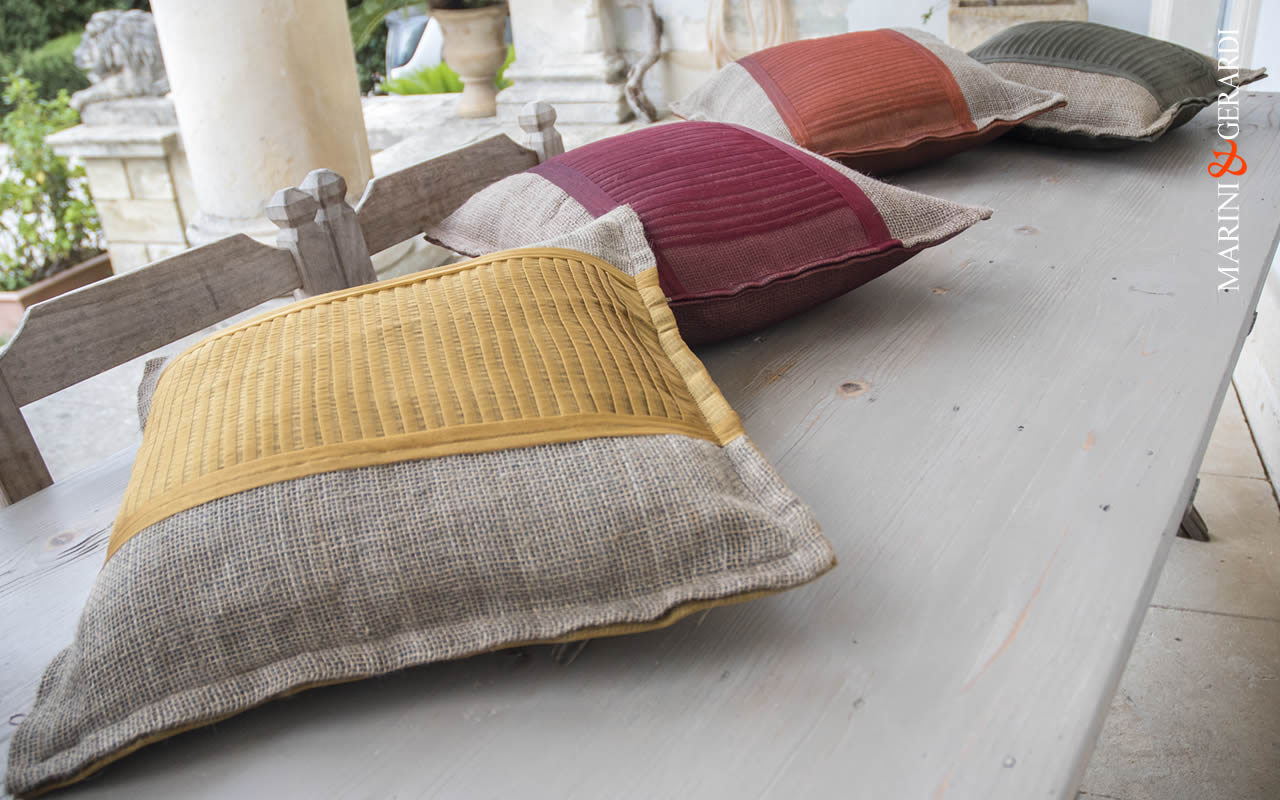 Italian Cushions Covers Linguine Colours Yute Organdie