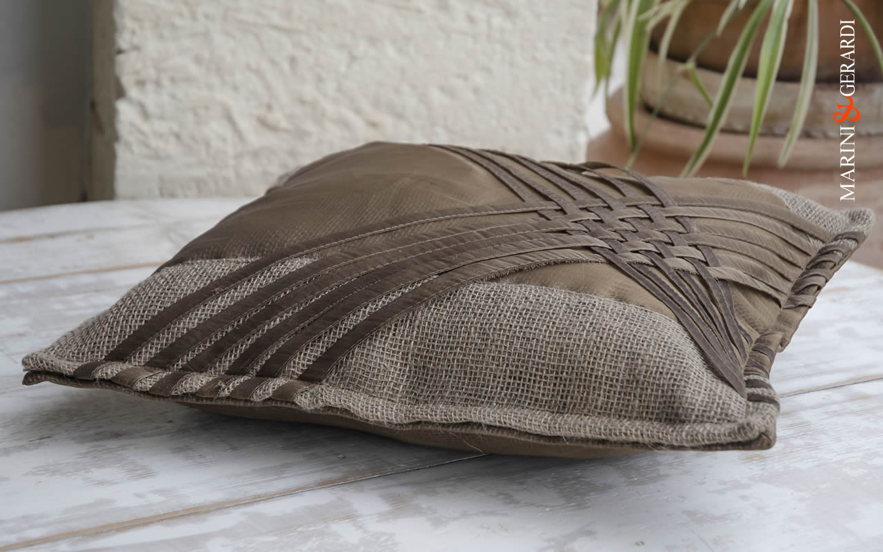 Large Cushions Covers Spaghetti Bronze Italian Design