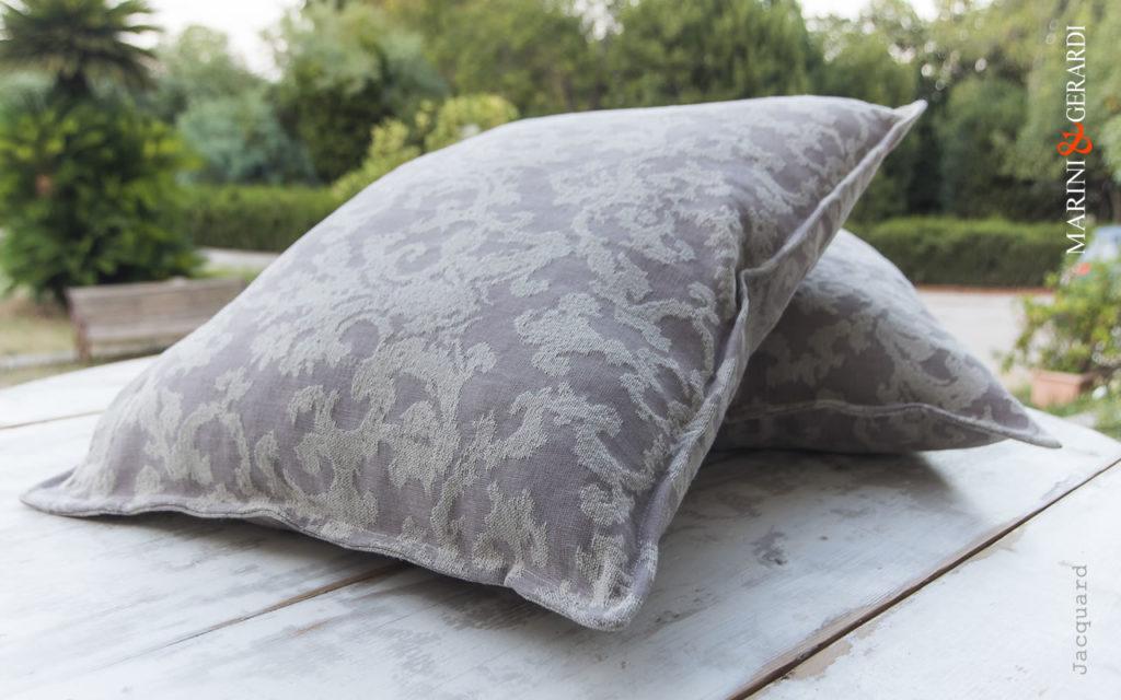 Linen Cotton Cushions Covers Jacquard For Sofa Decoration