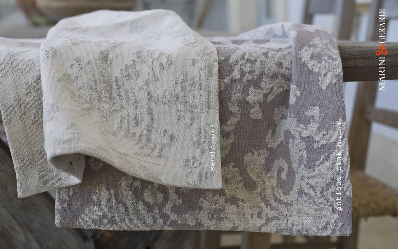 Linen Cotton Cushions Covers Jacquard Sand Antique Pink