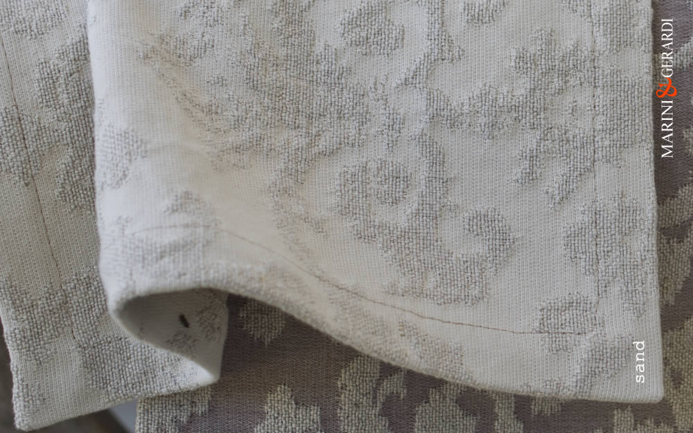 Linen Cotton Cushions Covers Jacquard Sand