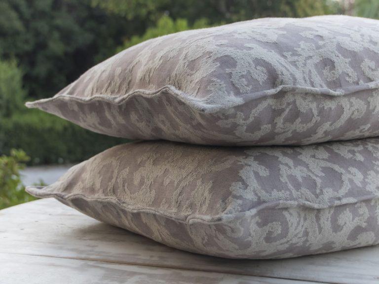 Linen Cushions Covers Jacquard For Sofa