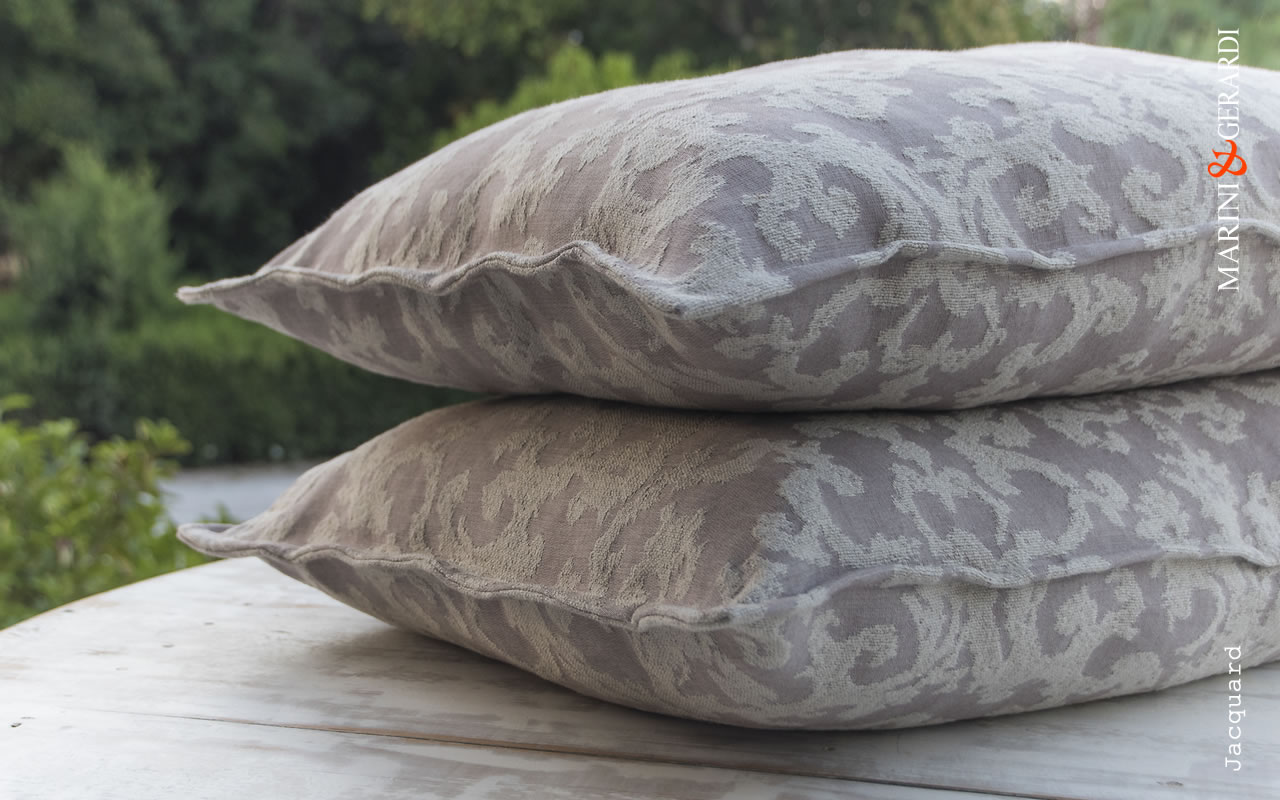 Linen Cushions Covers Jacquard For Sofa