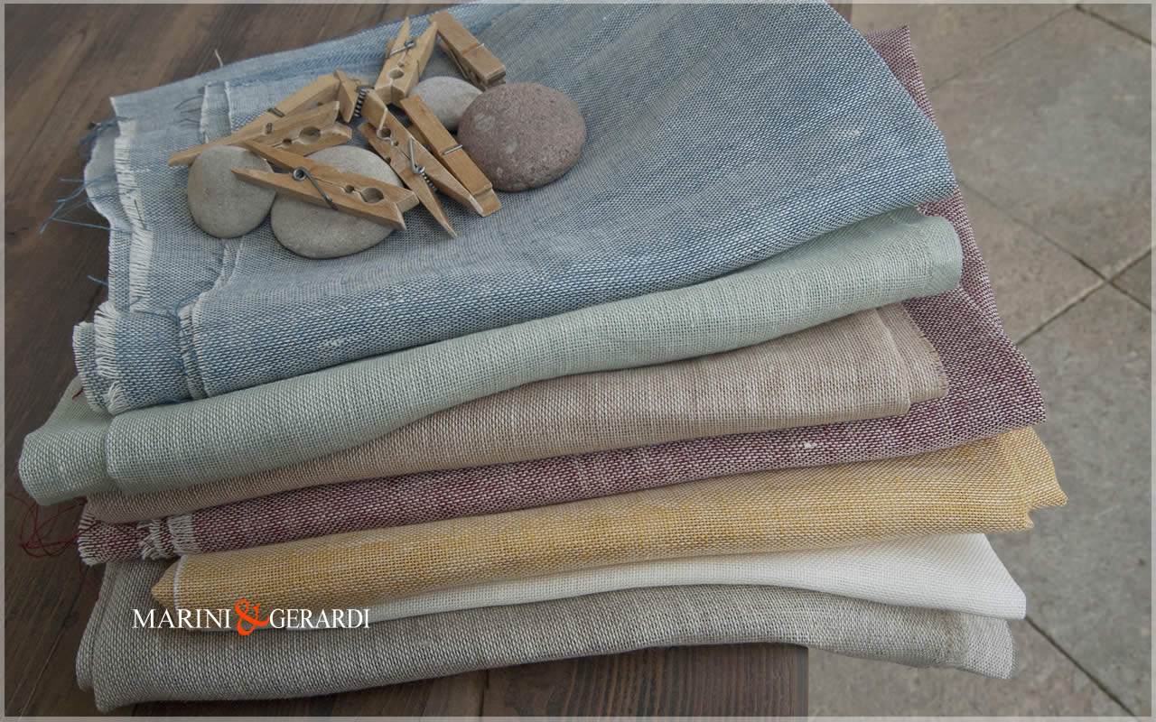 Open Weave Pure Linen Fabric For Curtains