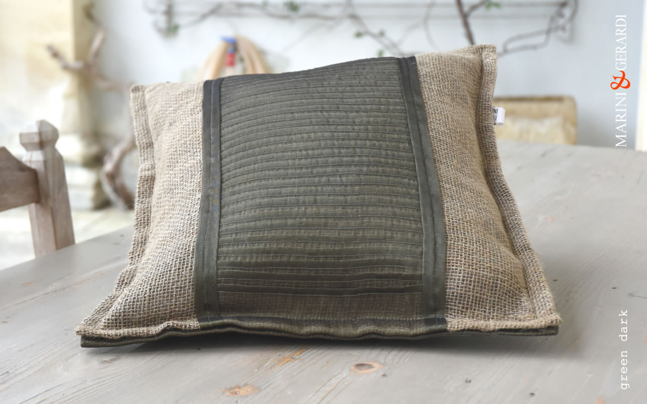 Price Cushions Covers Linguine Green Dark Yute Organdie