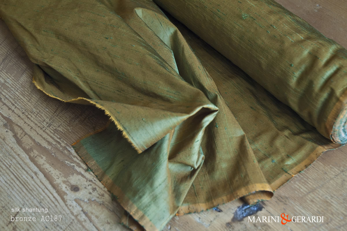Silk Shantung Fabric Bronze AC187