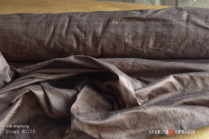 Silk Shantung Fabric Brown AC1