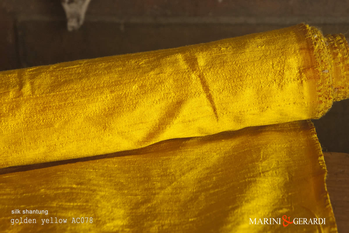 Silk Shantung Fabric Golden Yellow AC078