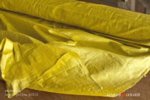 Silk Shantung Fabric Lemon Yellow AC012