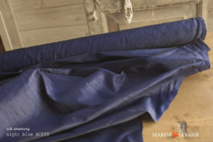 Silk Shantung Fabric Night Blue AC093