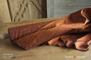 Silk Shantung Fabric Rust AC027