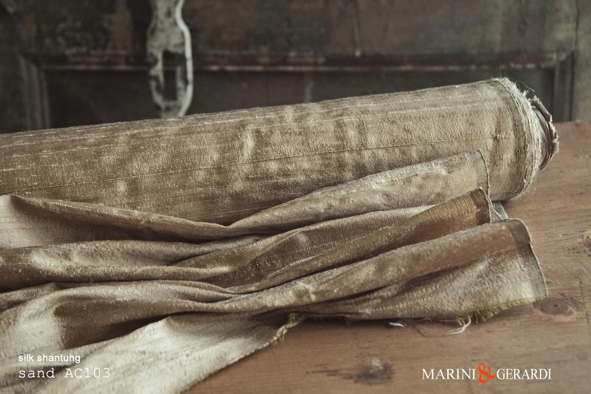 Silk Shantung Fabric Sand AC103
