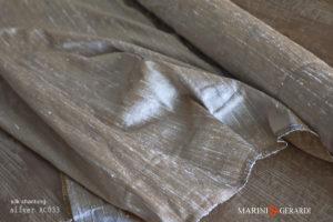 Silk Shantung Fabric Silver AC033