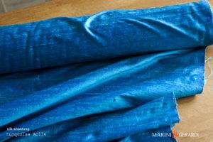 Silk Shantung Fabric Turquoise AC134