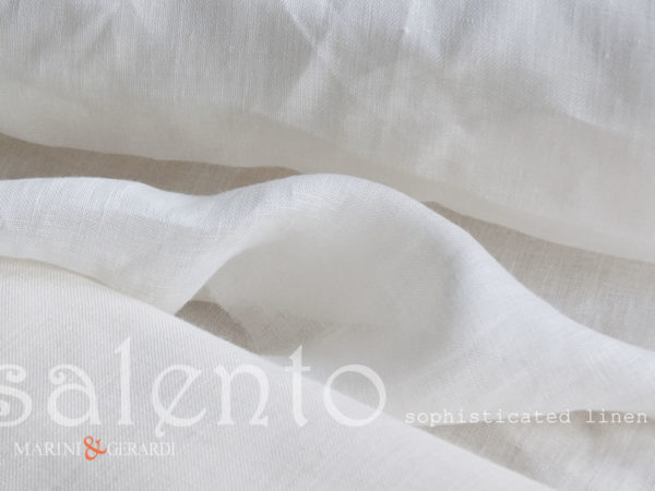 Sophisticated Italin Linen For Curtains White Salento FF300