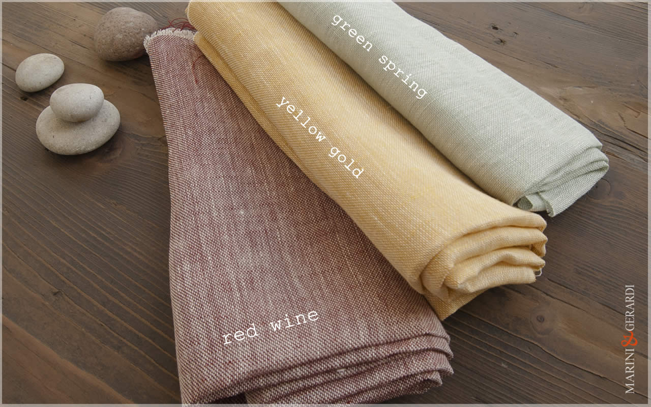 Weightless Linen For Curtain Fabric Red Wine Yellow Gold