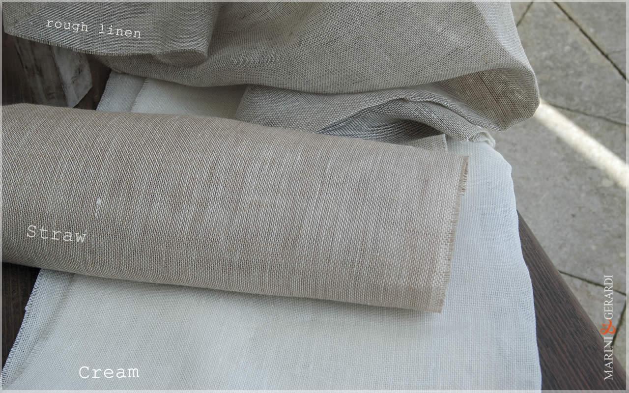 Weightless Linen For Curtain Fabric Straw Cream
