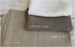 Rough Linen Fabric: Coffee W Milk Tobacco Brown Ice Cream