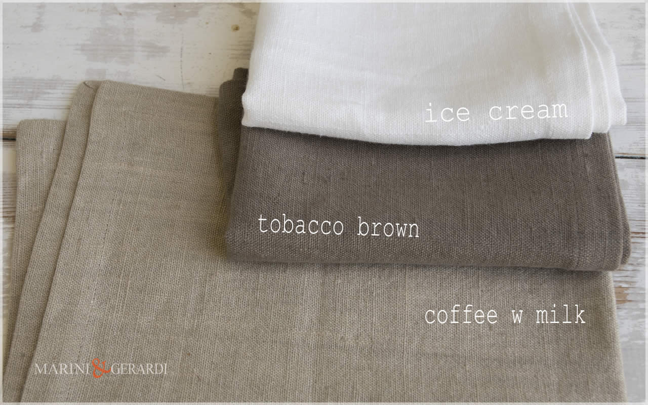 Rough Linen Fabric: Coffee W Milk Tobacco Brown Ice Cream