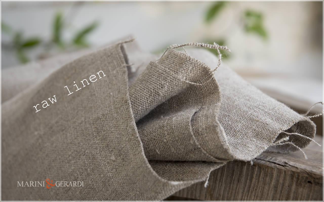"natural raw linen ""NAKED & ROUGH"""