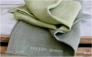 Rough Linen Fabric: Green Rotten Green