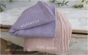ROUGH LINEN FABRICS: Wisteria Light Salmon