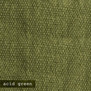 Upholstery Leather Linen Acid Green