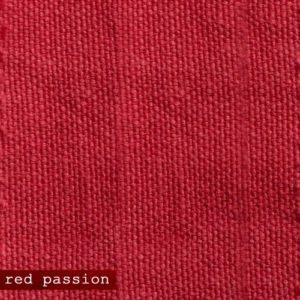 Upholstery Leather Linen Red Passion