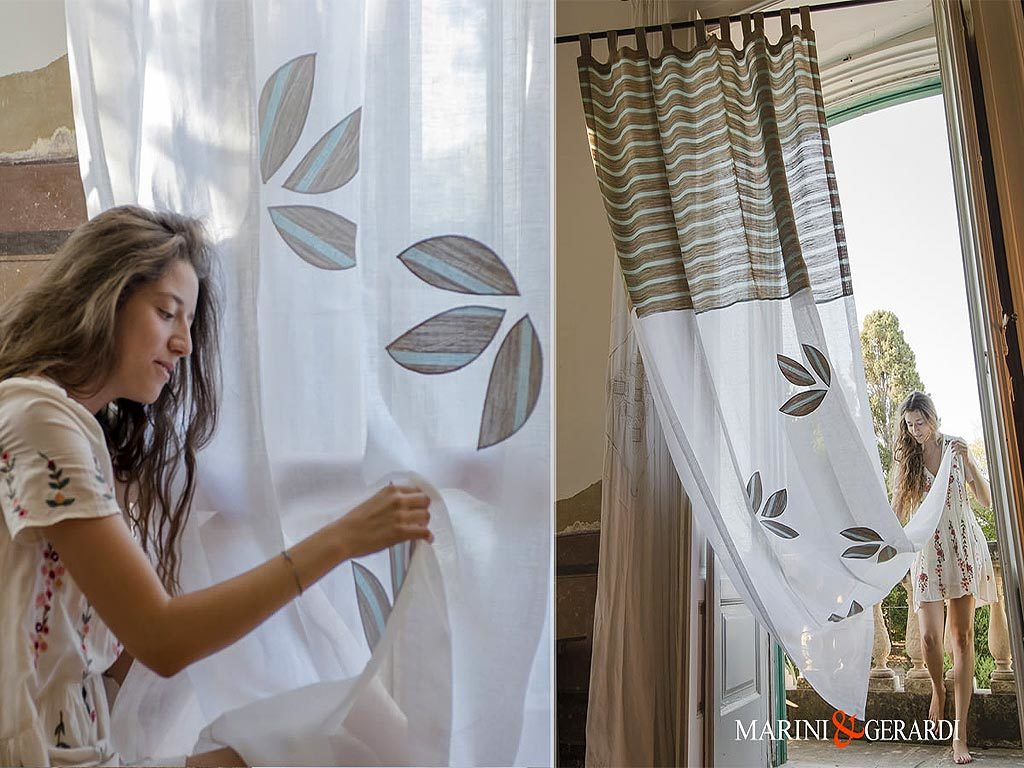 linen-curtains-fabric-stripe-leaves-turquoise-Collepasso