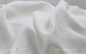 White Pure Linen fabric Salento FF300