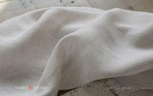 Sophisticated Curtains Haiti Pearl Pure Linen Salento fabrics FF300