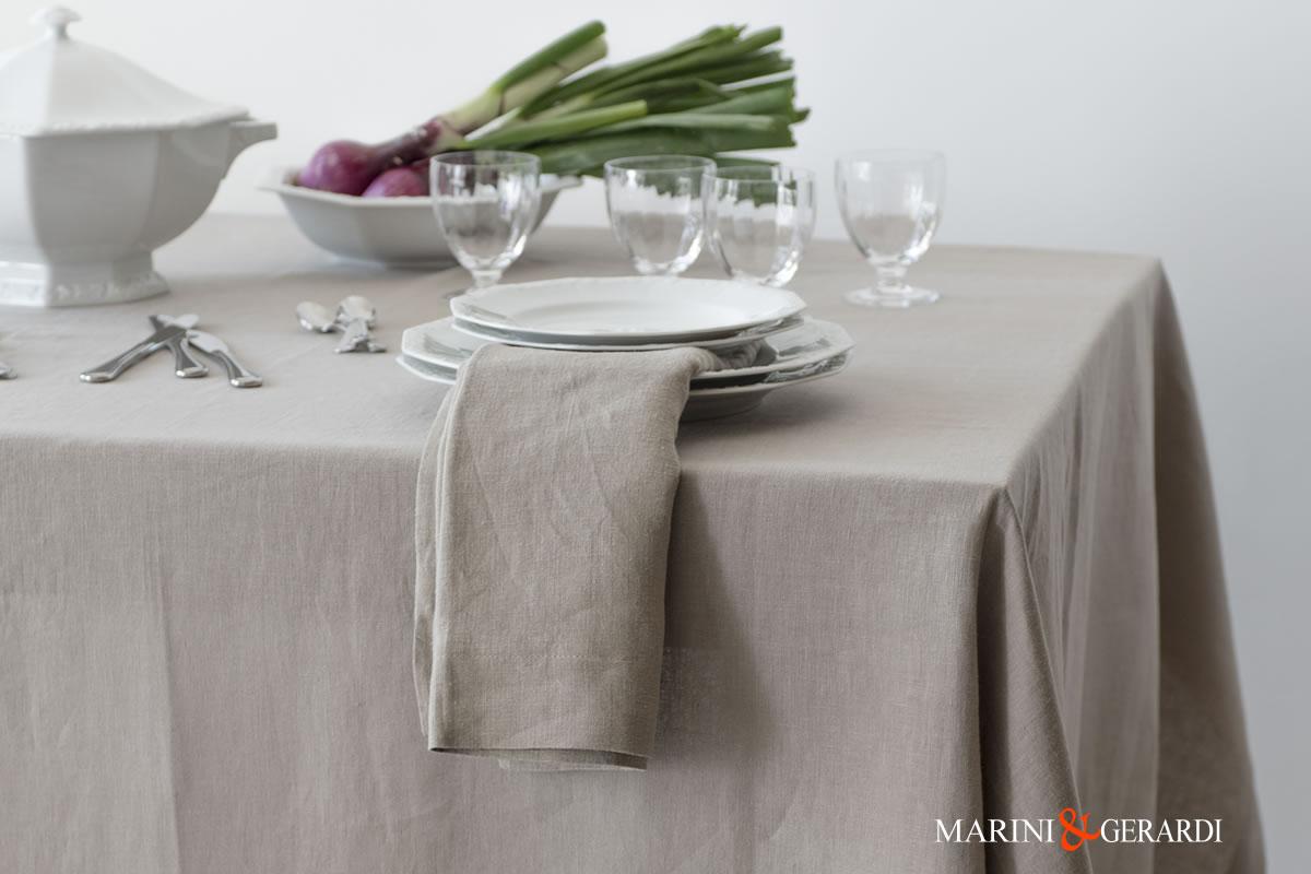 Italian Table Linen Tablecloth And Napkins Acaya Ecru