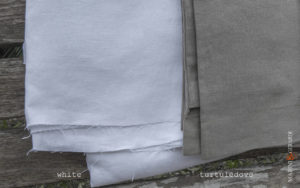 combination linen color fabrics duvet cover white + turtuledove
