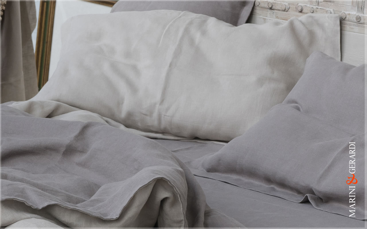 Italian Pure Linen Fabrics For Duvet Cover Pillow