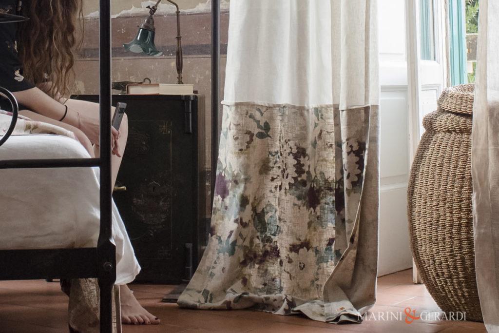 Beautiful Italian Linen Curtains Flowers Isla Margarita