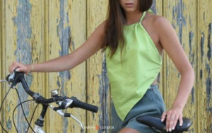 Shantung Silk Women Top Pistachio Green