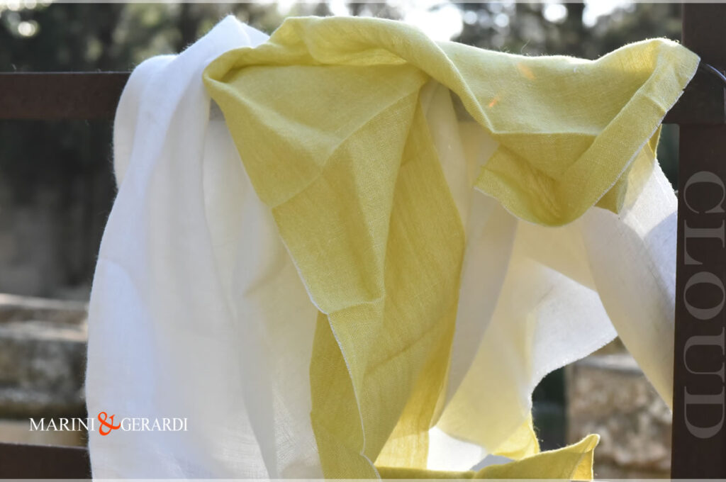 Flax Linen Fabrics Canary White For Curtains